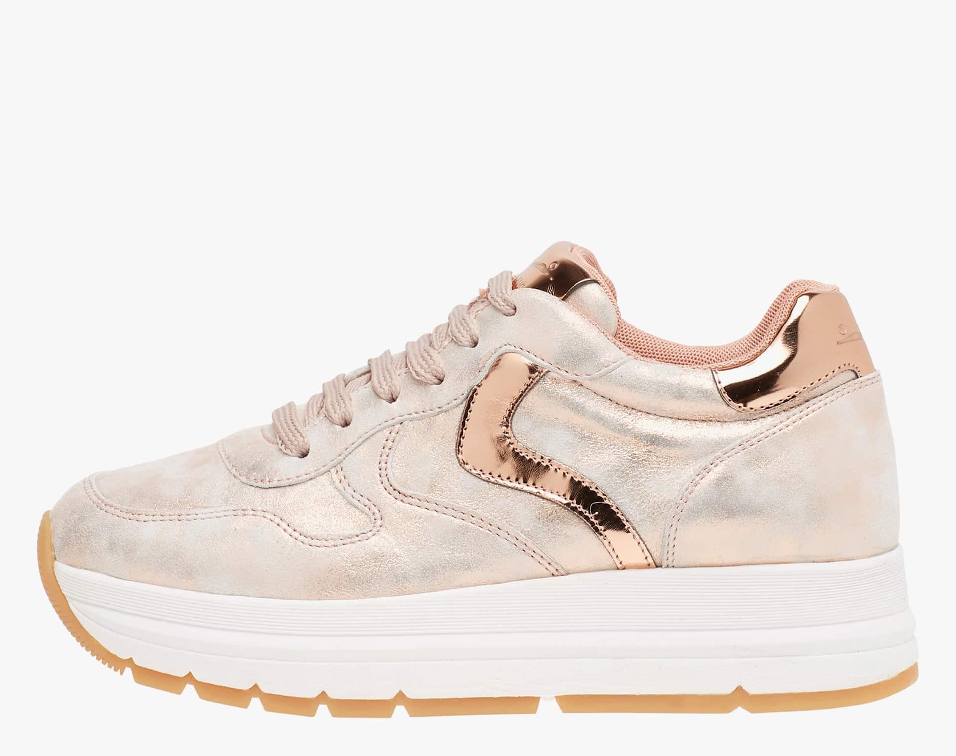 MARAN - Pink laminated calfskin sneakers - Pink
