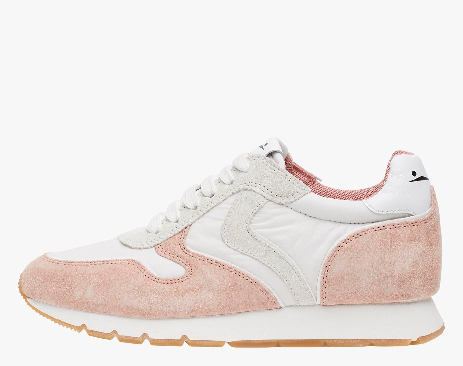 JULIA - Suede and technical fabric sneakers - Pink