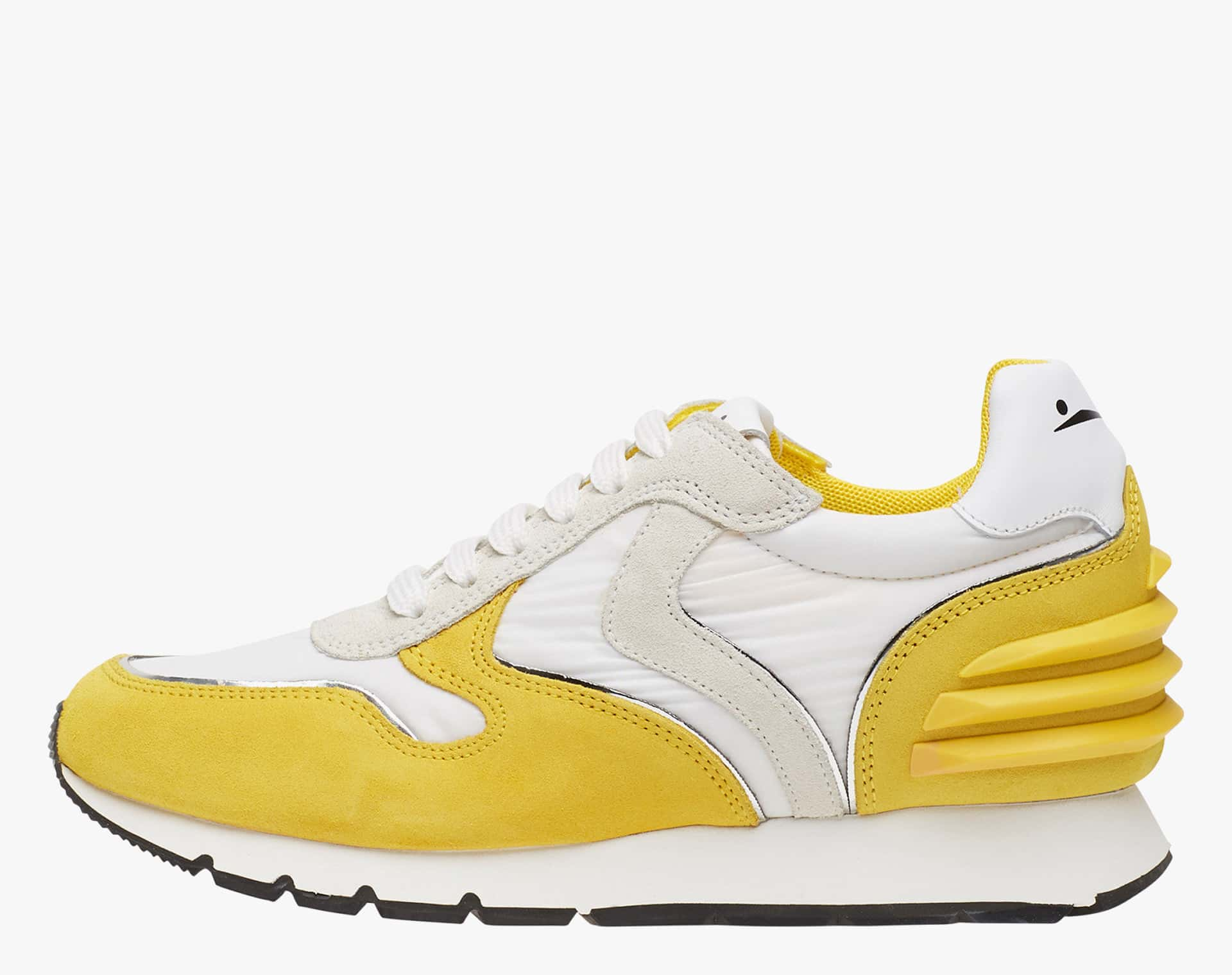 JULIA SLAM POWER - Suede and technical fabric sneakers - Yellow