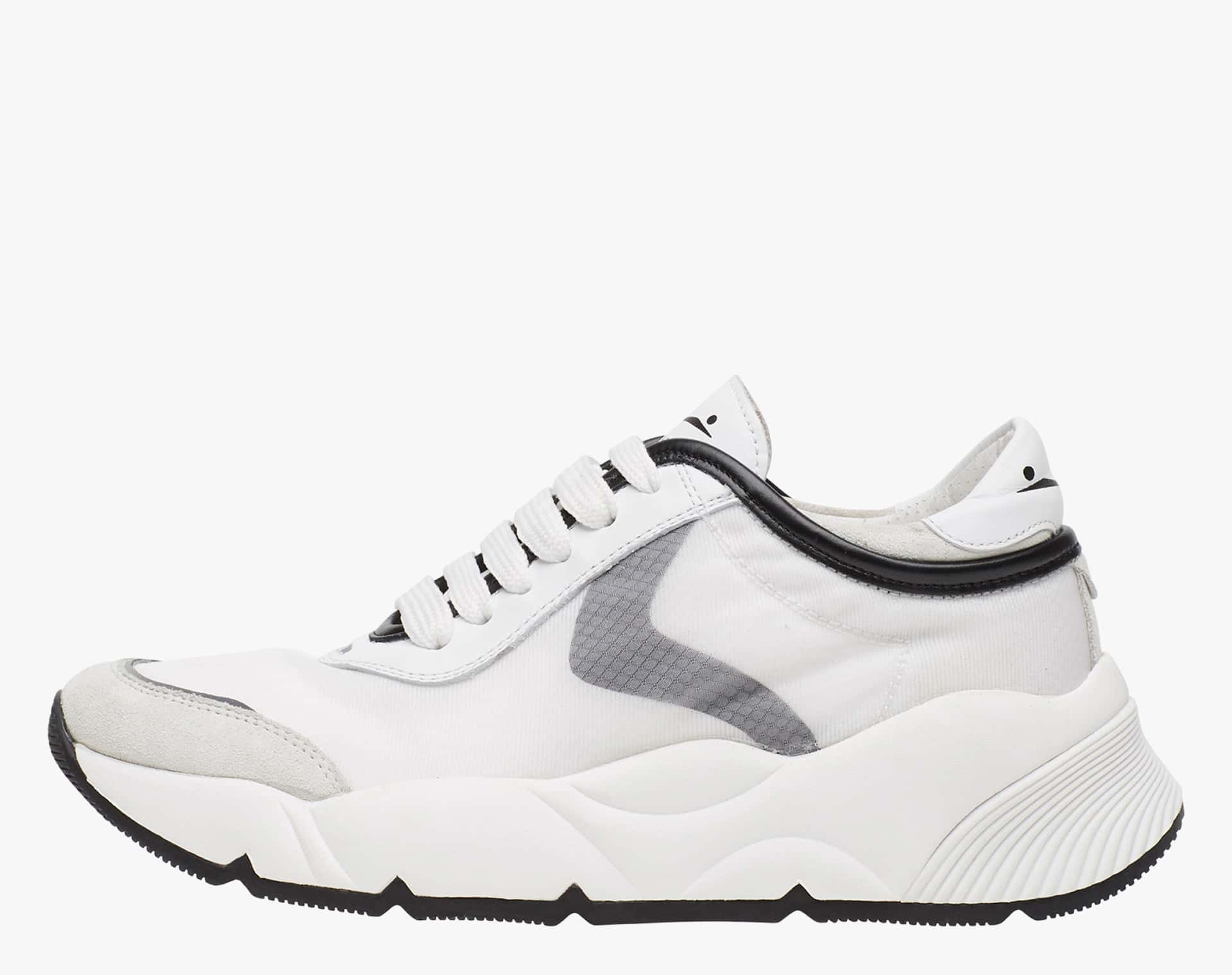 SHEEL CLEAN MESH - Suede and doubled mesh sneakers  - White