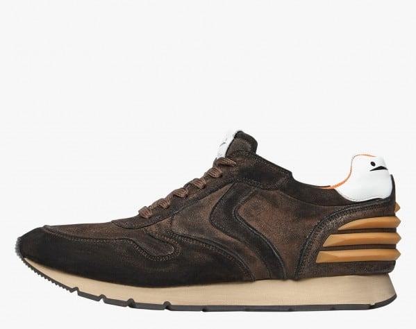 LIAM POWER - Sneaker in suede anticato - MARRONE/ARANCIONE