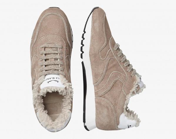 JULIA FUR - Sneaker foderata in shearling - Beige