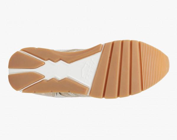 Sneaker in vitello platino Platino/Militare-JULIA
