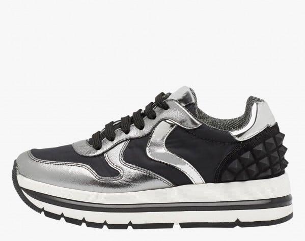 MARAN STUDS - Sneaker in nappa con stud - Argento
