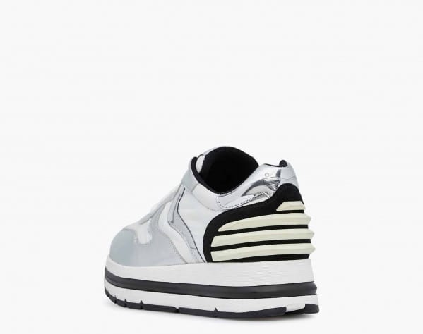 MARAN POWER - Sneaker in nappa metallizzata e suola chunky - Argento
