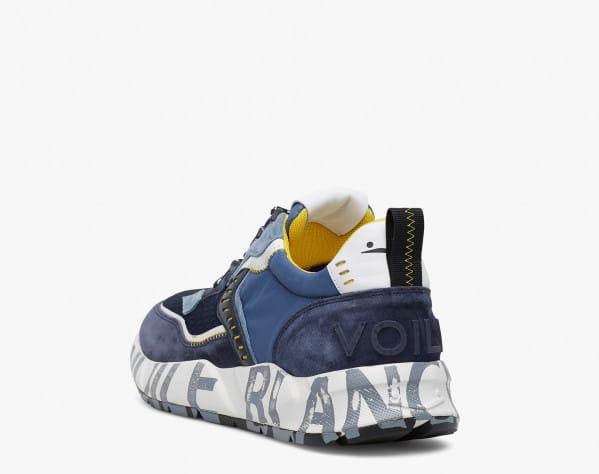 CLUB01 - Sneaker in suede e tessuto tecnico - Blue