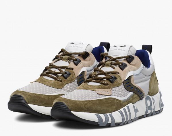 CLUB01 - Sneaker in suede e tessuto tecnico - Bosco