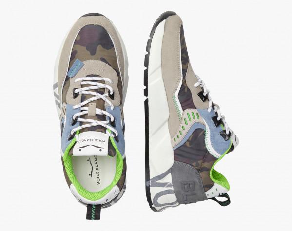 CLUB01 - Sneaker in suede e tessuto tecnico - Grigio