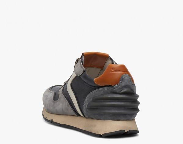 LIAM POWER - Sneaker in nabuk e nylon tecnico - Grigio