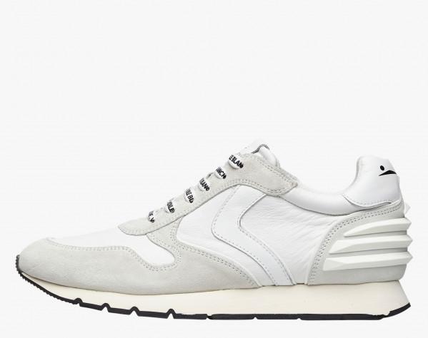 LIAM POWER - Sneaker in suede e nylon tecnico - Bianco