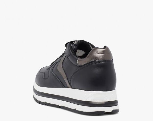 MARAN - Sneaker in vitello con dettagli metallizzati - Nero