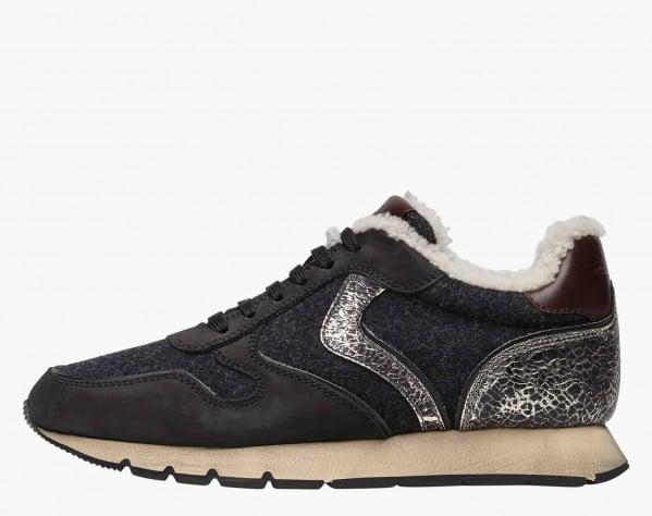 JULIA FUR - Sneaker foderata in shearling - Nero
