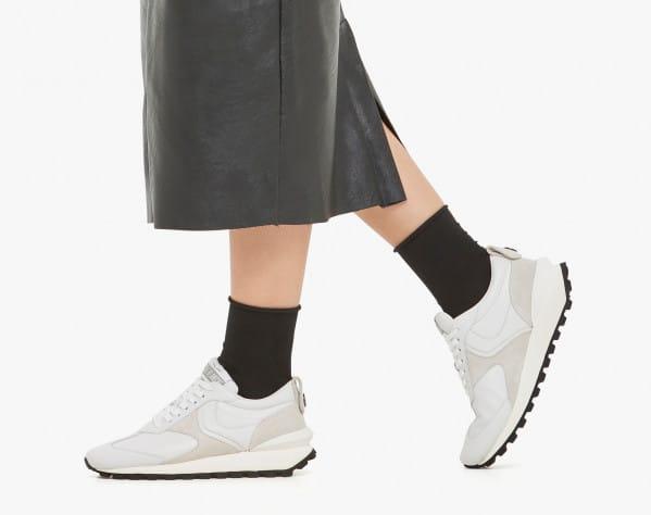 QWARK WOMAN - Sneaker in vitello e suede - Ghiaccio