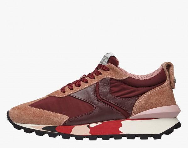 QWARK WOMAN - Sneaker in tessuto tecnico e suede - Rosa