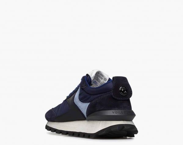 QWARK WOMAN - Sneaker in suede e tessuto tecnico - Navy