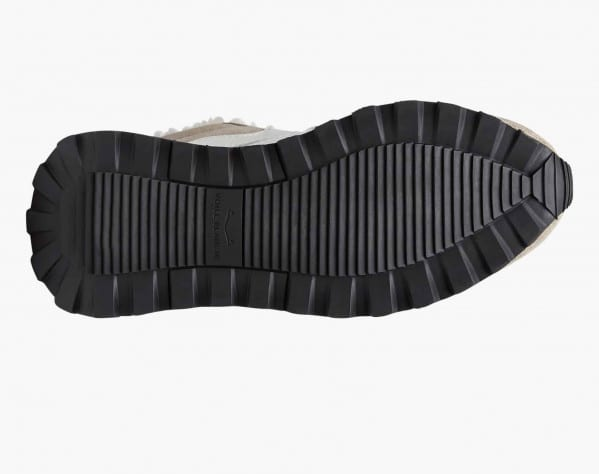 QWARK FUR WOMAN - Sneaker in nabuk e feltro con fodera in shearling - Grigio