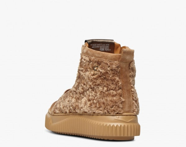AMICE - Sneaker in suede ed eco shearling - Tabacco