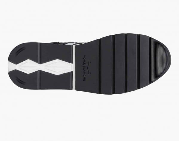 MARAN - Sneaker in suede e maglia velvet - Nero/Argento