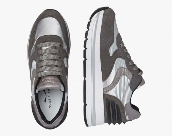 MARAN POWER - Sneaker in suede e tessuto laminato - Grigio