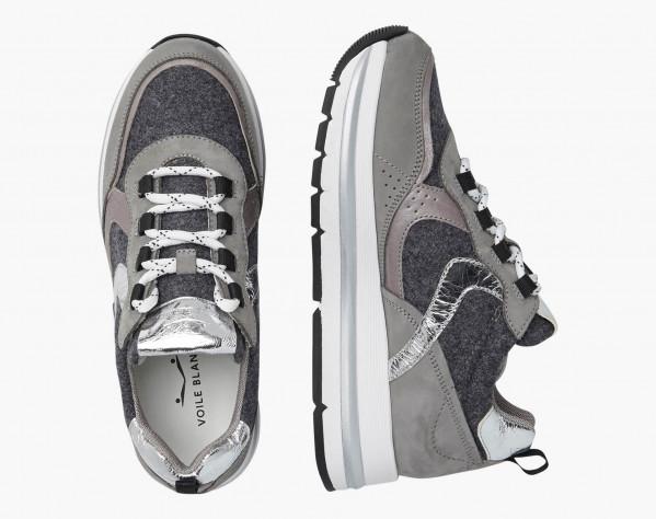 MARPLE - Sneaker in feltro e nabuk - Grigio/Antracite