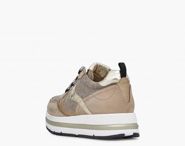 MARPLE - Sneaker in feltro e nabuk - Beige
