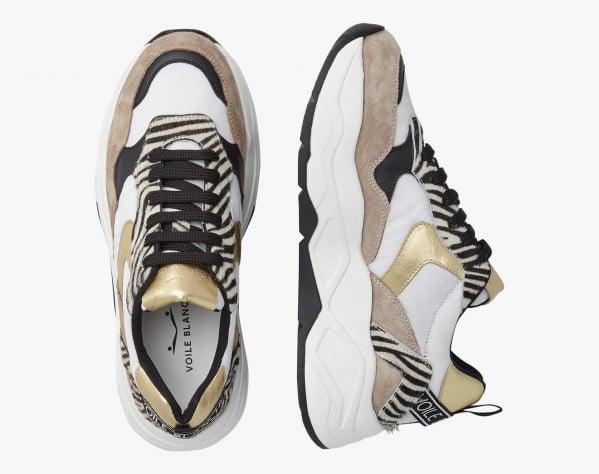 BEA 02 - Sneaker in tessuto e nabuk con glitter - Girigo-Bianco
