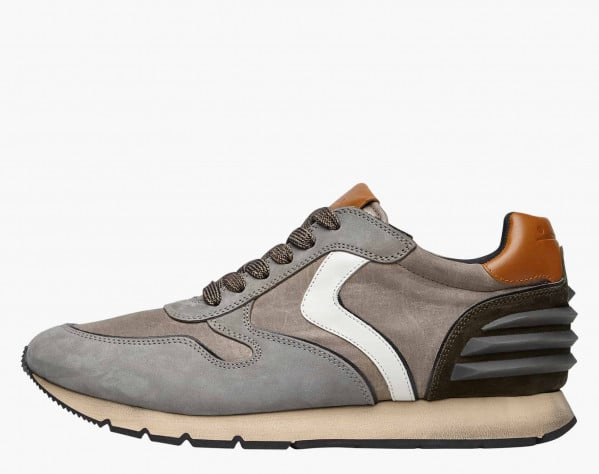 LIAM POWER - Sneaker in nabuk e tessuto tecnico - Militare