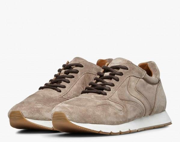 LIAM PUMP - Sneaker in suede - Beige