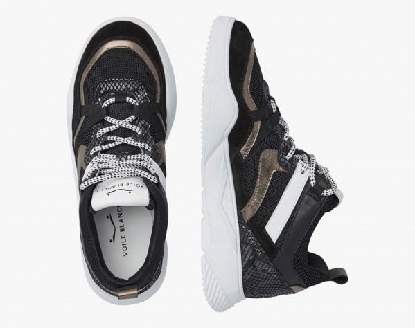 JULIET - Sneaker in suede e micro rete - Nero