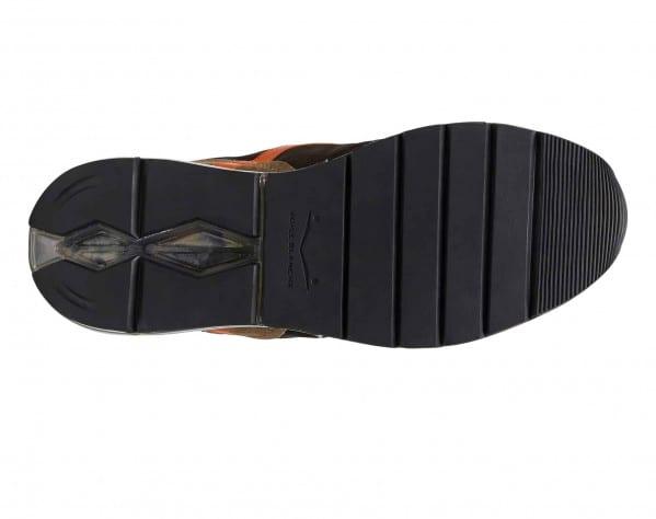 NEW ARGO II - Sneaker in tessuto e suede con fondo camouflage - Militare