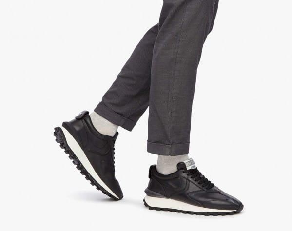 QWARK MAN - Sneaker in vitello - Nero