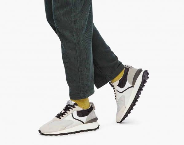 QWARK MAN - Sneaker in tessuto tecnico e suede - Ghiaccio