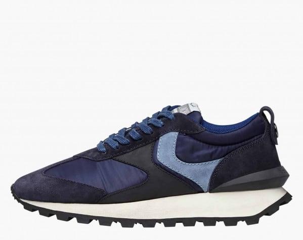 QWARK MAN - Sneaker in tessuto tecnico e suede - Navy