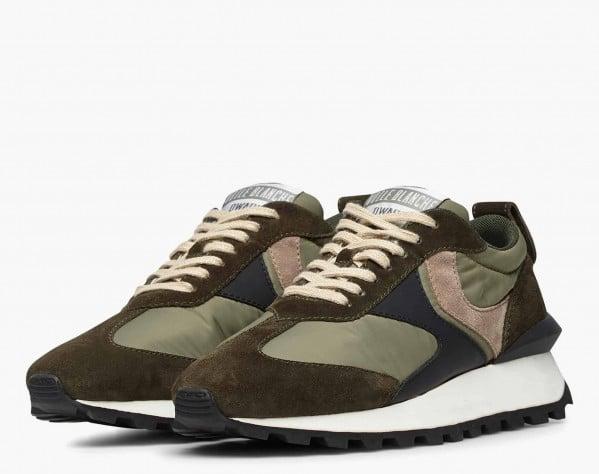 QWARK MAN - Sneaker in tessuto tecnico e suede - Militare
