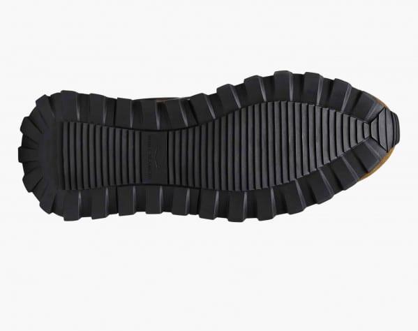 QWARK MAN - Sneaker in tessuto tecnico camouflage e suede vintage - Marrone