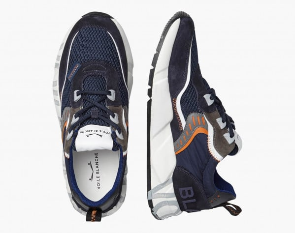 CLUB01. - Sneaker in suede e mesh - Navy