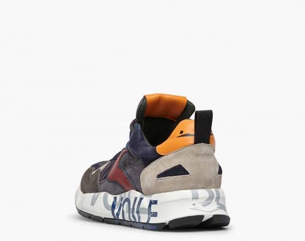 CLUB16. - Sneaker in suede e tessuto tecnico - Grigio