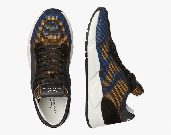ARPOLH NET - Sneaker in vitello e micro rete - Nero