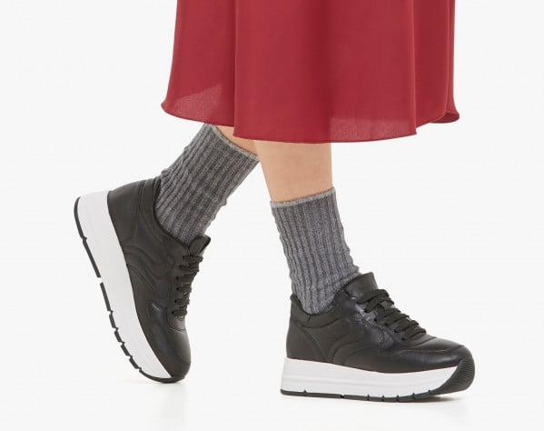 MARAN PUMP - Sneaker in vitello - Nero