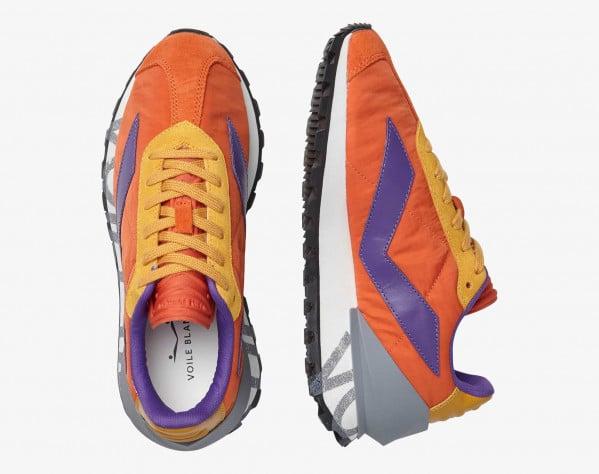 QWARK SPUR WOMAN. - Sneaker in tessuto tecnico e vitello - Arancione