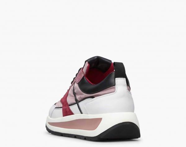 CLUB103. - Sneaker in vitello e tessuto tecnico - Bianco-Rosa