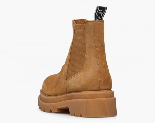 TWEED 09 - Chelsea boot in suede - Cognac
