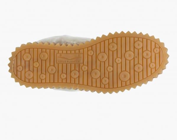 EVA HIKE - Scarponcino in shearling e pelle stampa coccodrillo - Beige