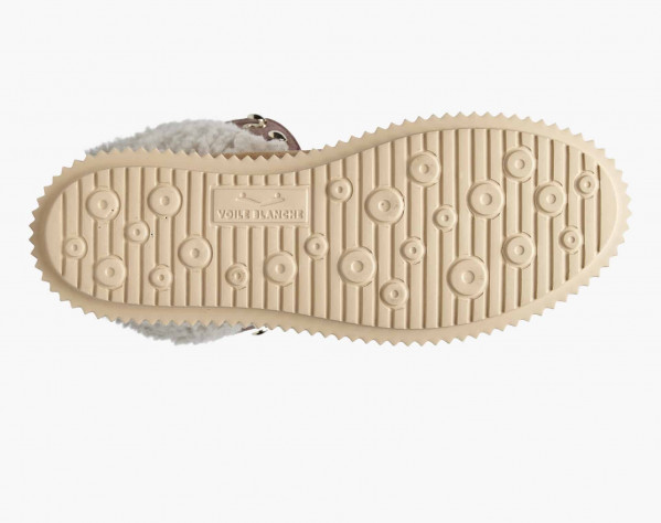 JENNY 03 HIGH - Sneaker alta in suede e shearling naturale - Tabacco