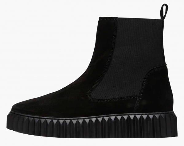 BETH - Chelsea boot in suede - Nero