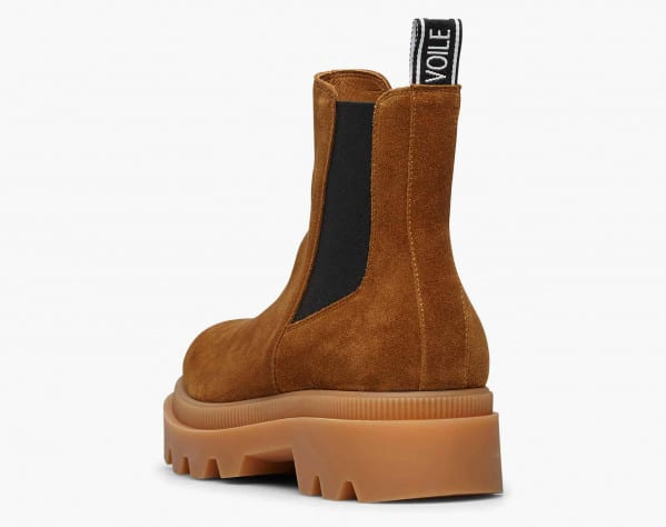 ALFRED 04 BIS - Chelsea boot con elastico a contrasto - Marrone