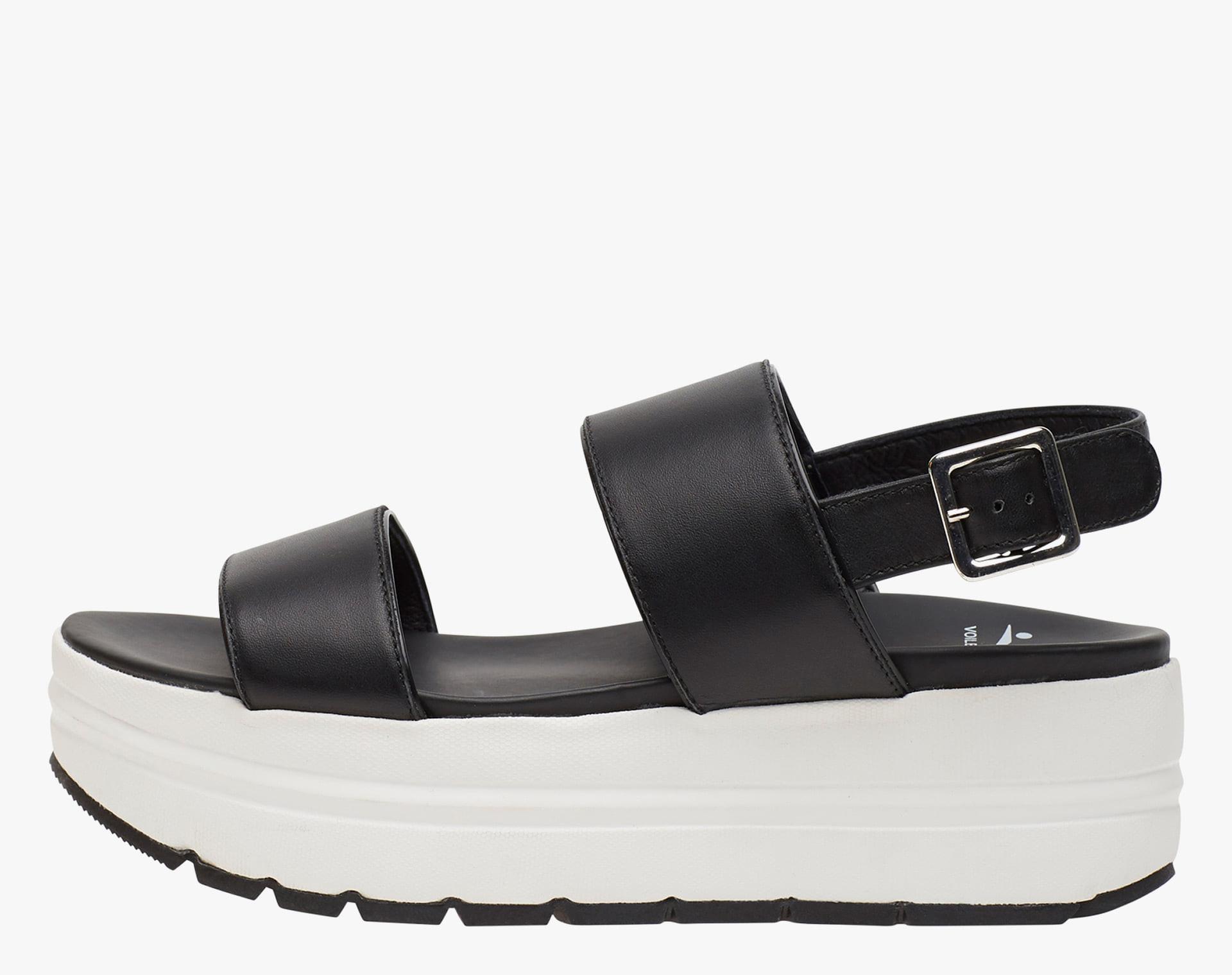 SUZY - Sandalo con doppia fascia - Nero