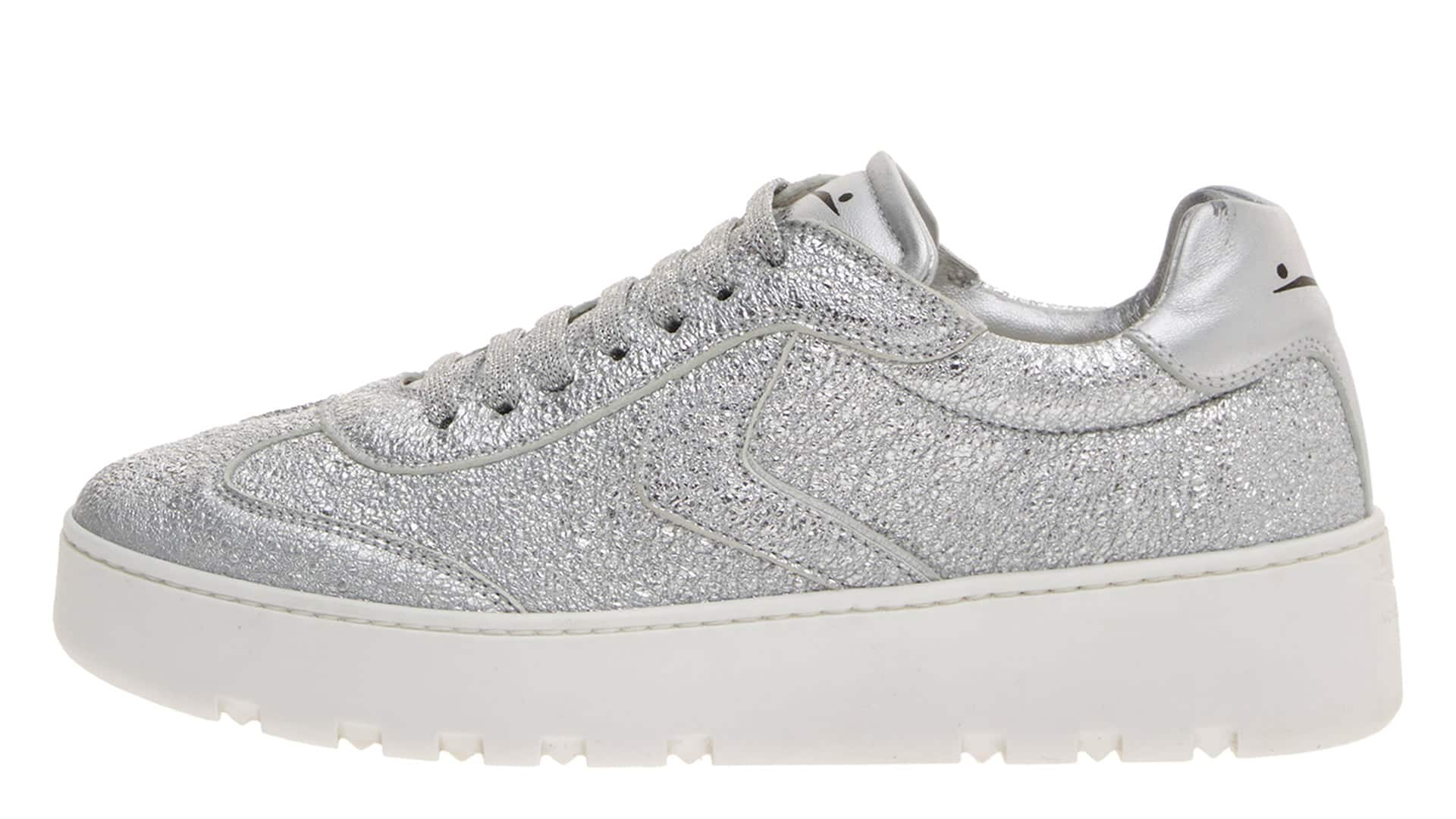 MARY - SNEAKERS IN PELLE - ARGENTO