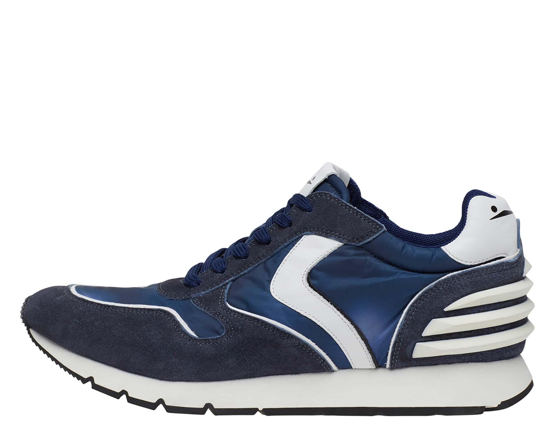 LIAM POWER - Sneakers in pelle e nylon - Blu