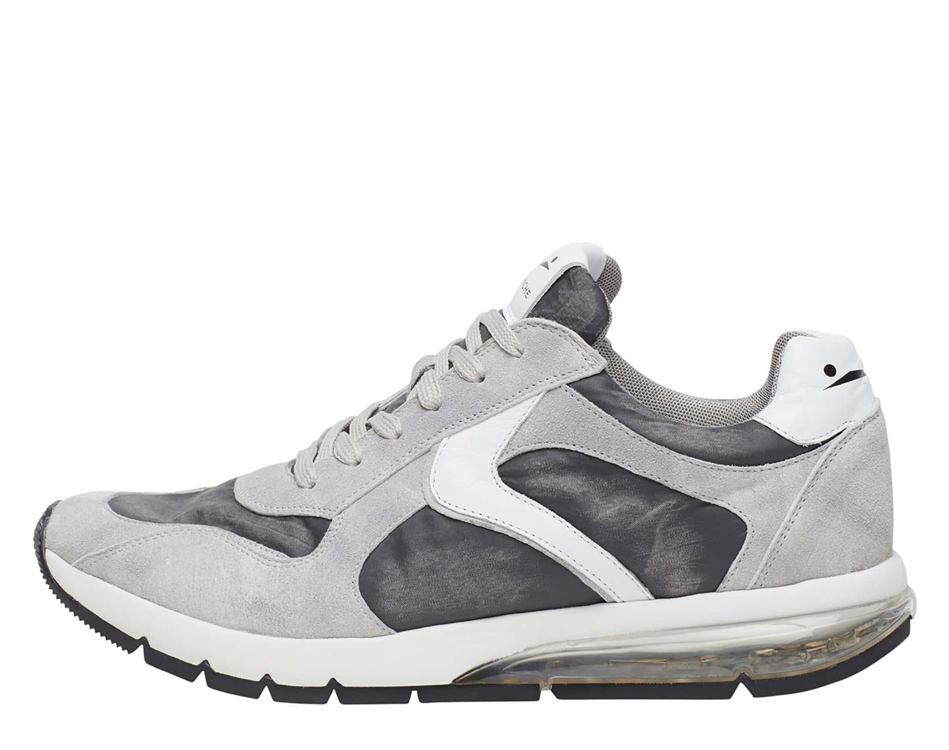 ARGO - Sneakers in pelle e nylon - Ghiaccio